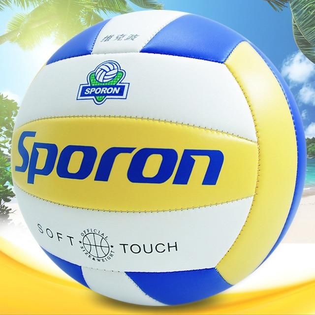 Una pieza de PVC suave voleibol profesional entrenamiento competición 5 # estándar internacional playa balonmano interior al aire libre