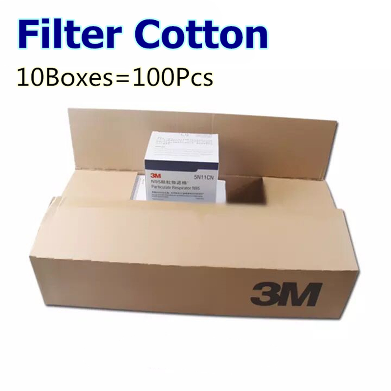 Wholesale 100Pcs 5N11 N95 Particulate Cotton Filters Replaceable For 6200 7502 Series For Double Face Chemical Respirator Mask