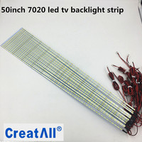 10pcs Lot 50inch 7020 LED Aluminum Plate Strip Backlight Led Edge Strip For LCD Monitor TV
