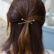 Простые золотые заколки для волос chimera металлические в форме