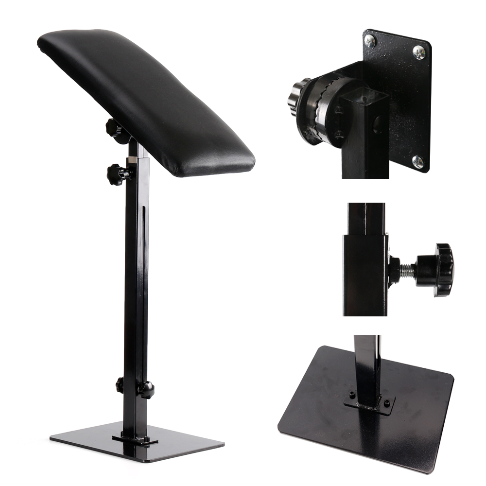 Фото Stigma Portable Adjustable Tattoo Armrest Heavy Duty Iron Professional Leg Rest Stand Holder Tattoo Accesories Bracket TA209