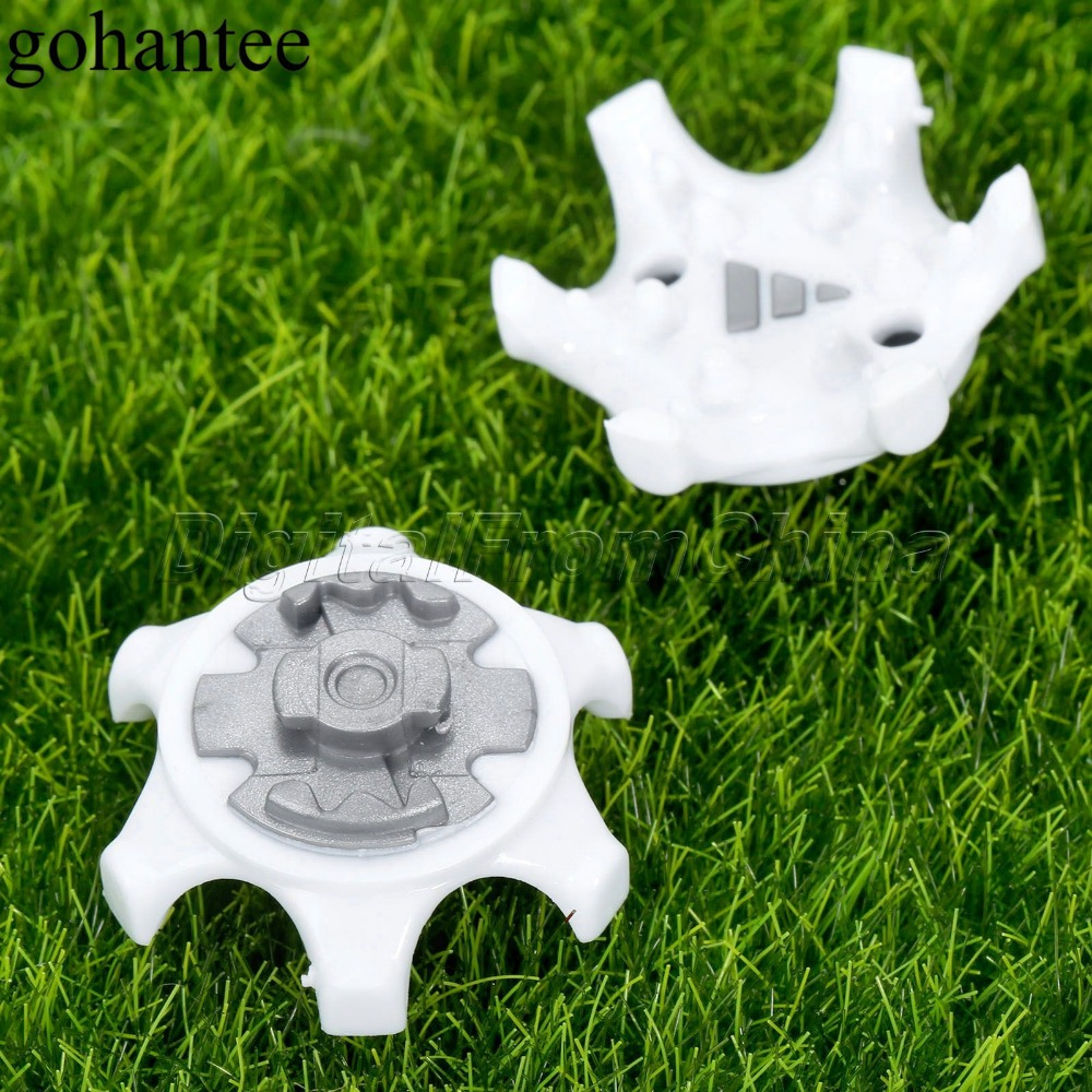 14Pcs /Lot TPR Golf Spikes Pins 1/4 Turn Fast Twist Shoe Spikes Replacement Accessories Golf Training Aids White+Gray Wholesale