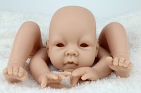 22inch/55cm Unisex Vinyl Reborn Baby Alive Doll Kits Doll Accessories Open Eyed With Head 3/4 Limbs Blank Unpaint Parts DIY