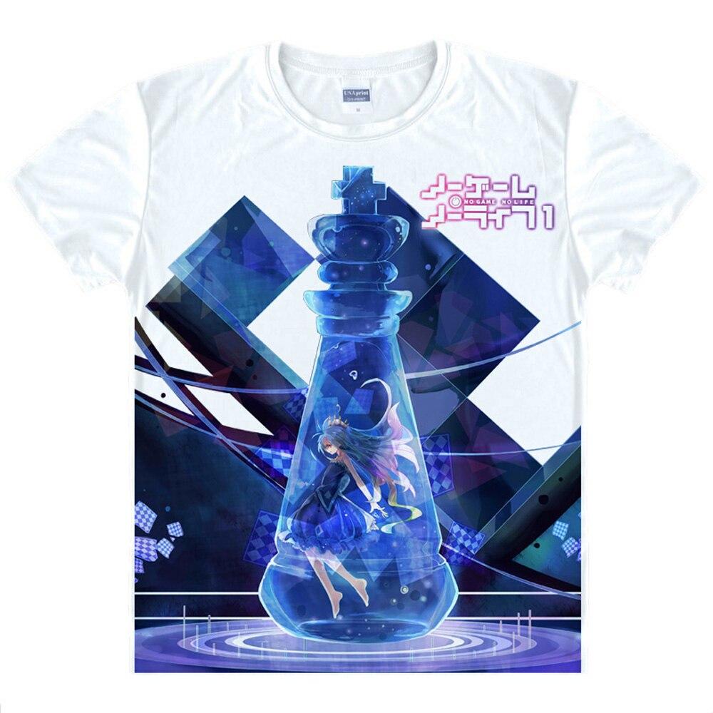 No Game No Life T Shirt Print Short Sleeve Jibril T-shirt Hatsuse Izuna Shirt Hot New Arrival Anime Cosplay Free Shipping