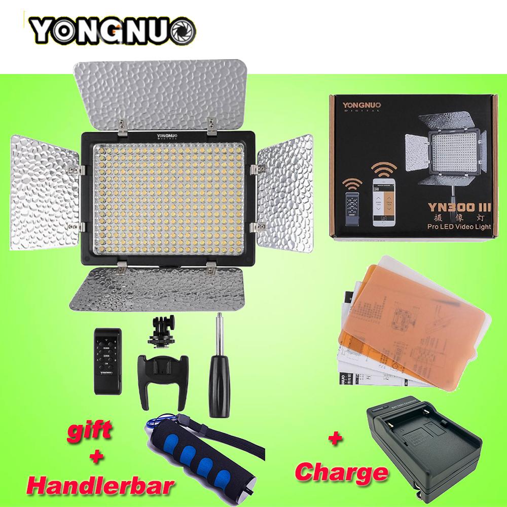 Prix pour Yongnuo yn300 iii yn-300 lil 5500 k pro led sur l'appareil photo éclairage lumière vidéo pour sony canon nikon appareil photo caméscope pour de mariage