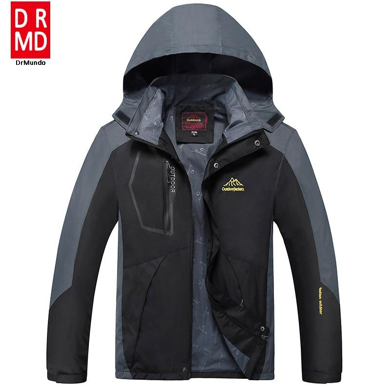Prix pour Randonnée veste hommes plus la taille 8XL Coupe-Vent windstopper imperméable ski en plein air veste de pluie Mountaineer polaire veste