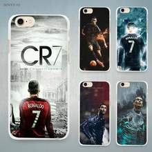 cr7 cristiano ronaldo art Hard White Cell Phone Case Cover for Apple iPhone 4 4s 5 5C SE 5s 6 6s 7 8 Plus X(China)