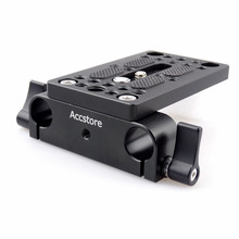 Accstore Камера опорная плита монтажная пластина Штатив Монтажная пластина с 15 мм Железнодорожный Род Зажим для стержня Поддержка DSLR Камера Rig