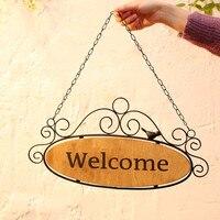 Ornament Listing Welcome Toggery Brand Glass Door Pendant Originality Door Shop Brand