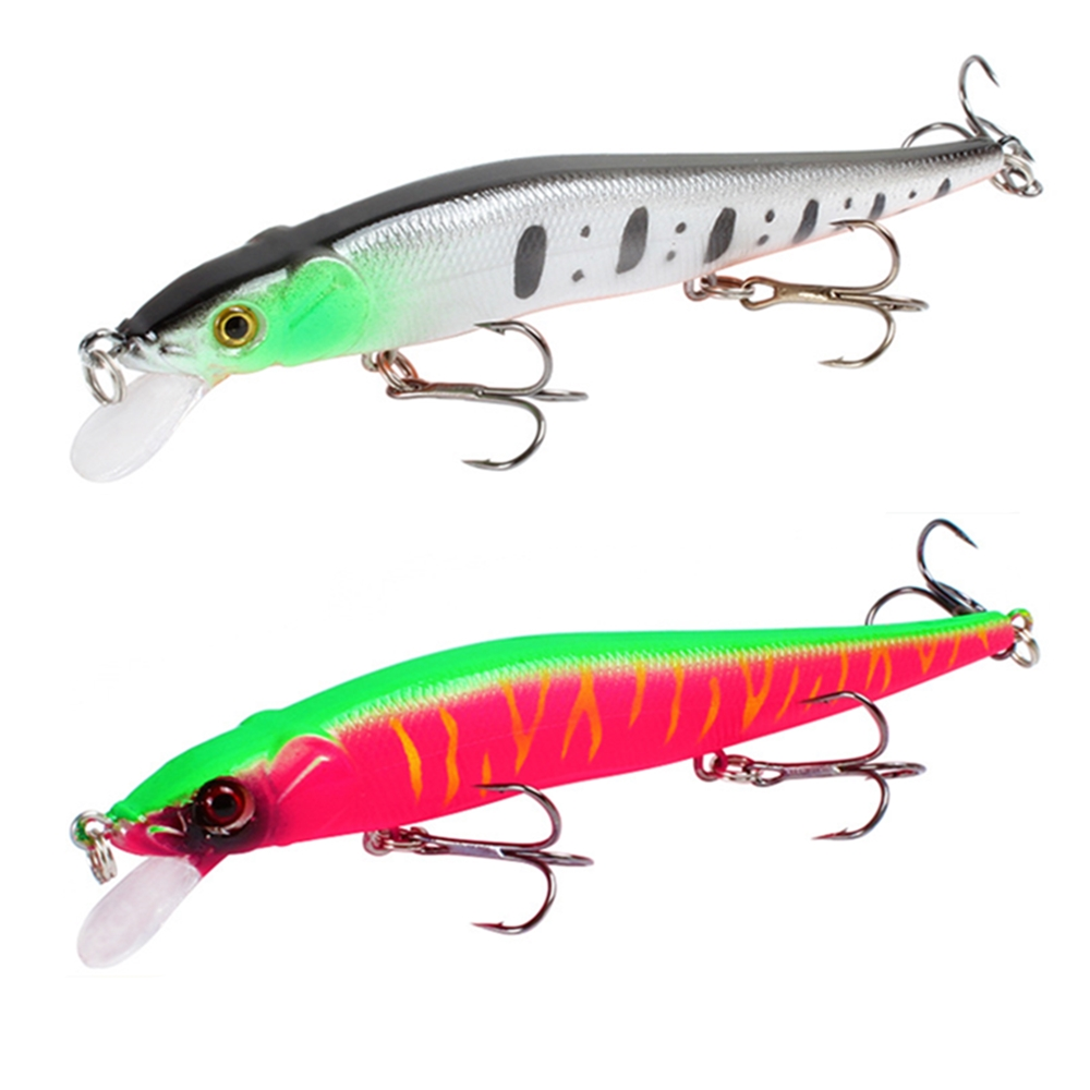 1pcs Fishing Lure 115mm/14g Minnow Crankbait Wobblers 3D Eyes Perch Artificial Bait Pike Carp Bait Swim Bait Fishing Pesca