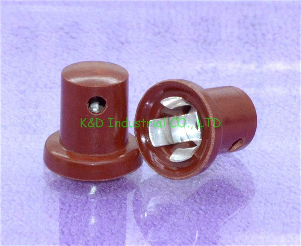 1pc Red Bakelite Vacuum Tube Anode Caps For Ef37 6j7 Audio Valve Base Amps Socket Discounts Sale