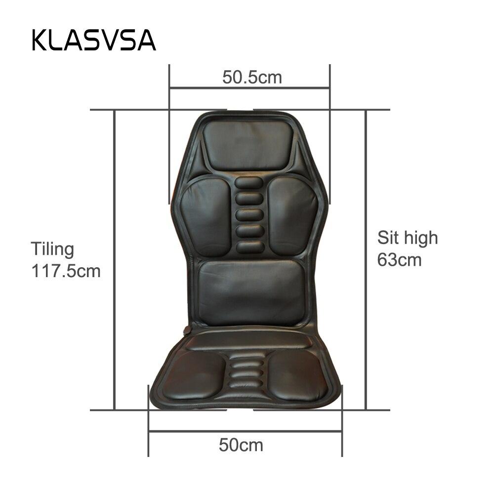 ... Heated Back Massage Seat Topper Car Home Office Seat Massager Heat  Vibrate Cushion Back Neck Massage ...