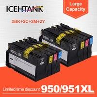 ICEHTANK Совместимый картридж для HP 950 951 XL Officejet Pro 8100 8600 8610 8620 8630 251dw 276dw 8650 принтеров