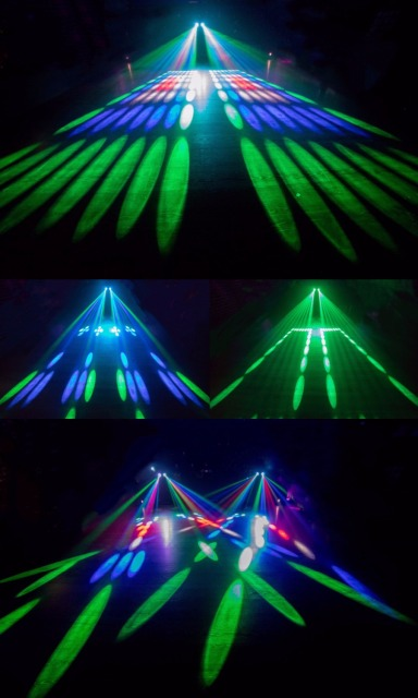 Portable Music Auto/Sound Actived 128 LED RGBW Lights Laser Stage Effect Lighting Club Disco DJ Party Bar KTV Wedding Christmas