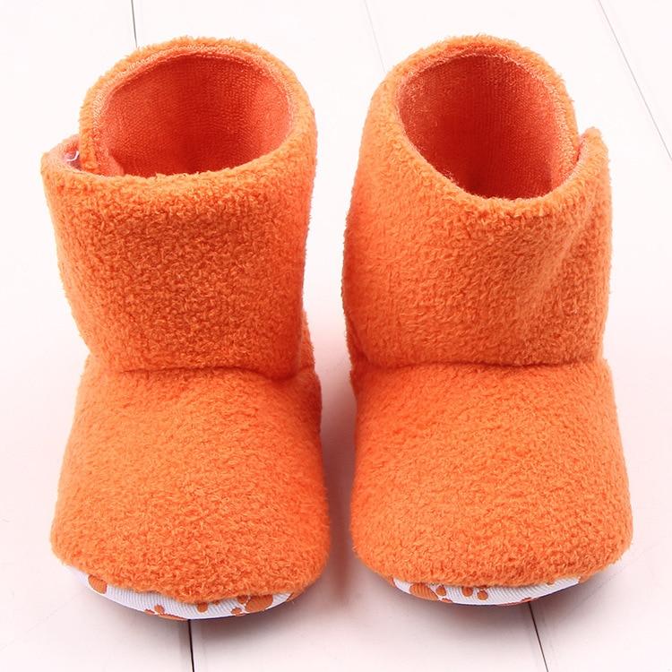 6a87d78b0e88f 2017 Nouvelle Mode Automne Hiver Bébé Cheville Neige Bottes Filles  infantile Chaussures Garçons Kaki Orange Antidérapant Bébé Chaussures  Premiers Marcheurs ...