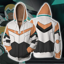 Voltron Legendary Defender Lance Hunk jacket cosplay Princess Allura Costumes 3D Printing zipper Sweatshirts Hooded sweater