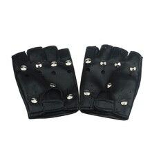 KLV черные перчатки популярные театральные панк хип-хоп ПУ Перчатки кожаные для рук Круглый гвоздь модный дизайн высокого качества z0927