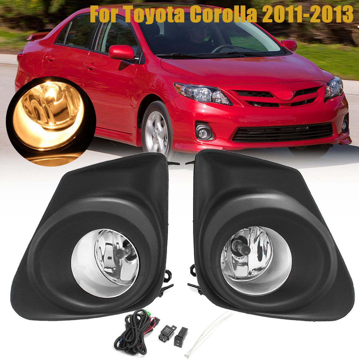 FOR Toyota 2011-2013 Corolla Fog Light Cover Trim Lh With Fog Lamp Hole