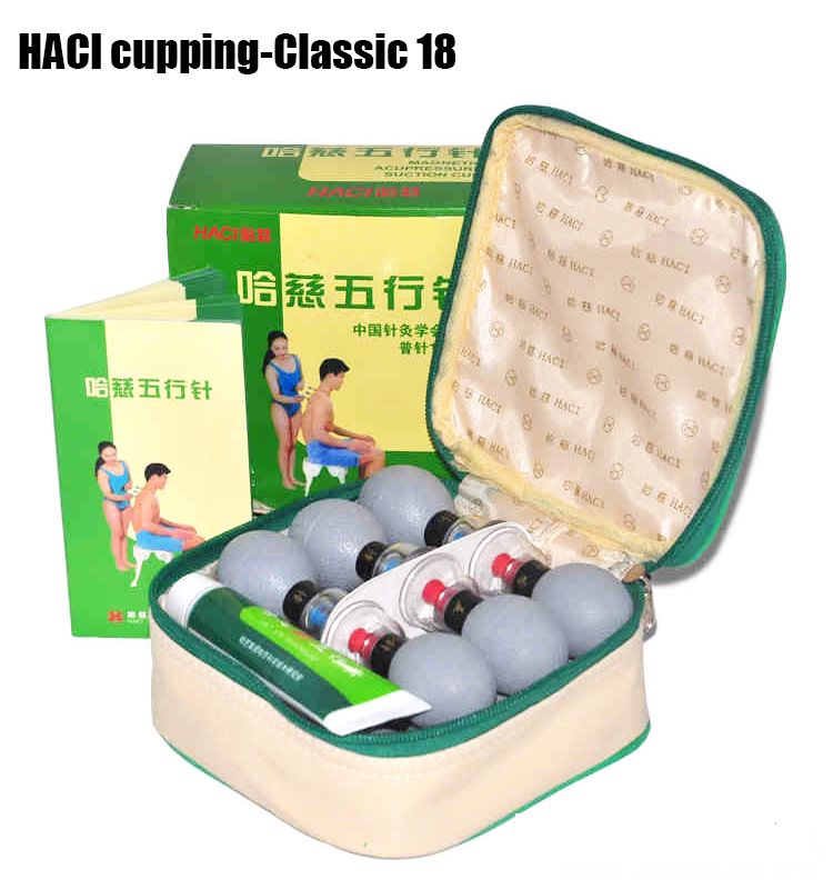HACI 18 cups Magnetic Acupressure Magnetic Suction Cupping Set Chinese Medical Vacuum Cupping Massage therapy Body Beauty Relax 12pcs set chinese medical vacuum body massager magnetic acupunture vacuum cupping portable massage therapy tens hijama cupping