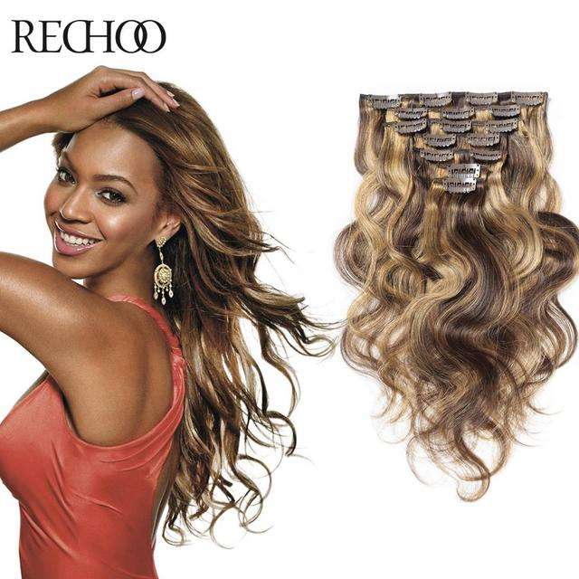 Peruvian Clip Ins Double Weft Clip Hair Extension Human Hair 7 8 10