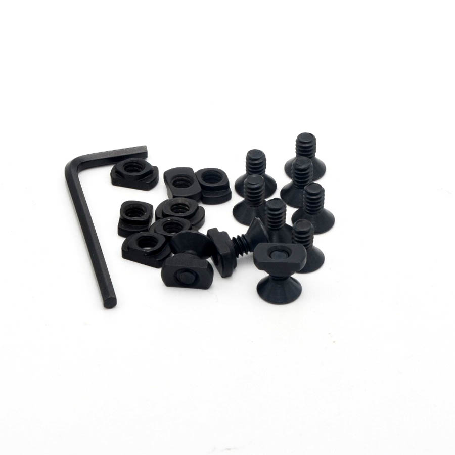 10 Pack M-Lok V Screw and Nut Replacement Set For Rail Sections-With Wrench