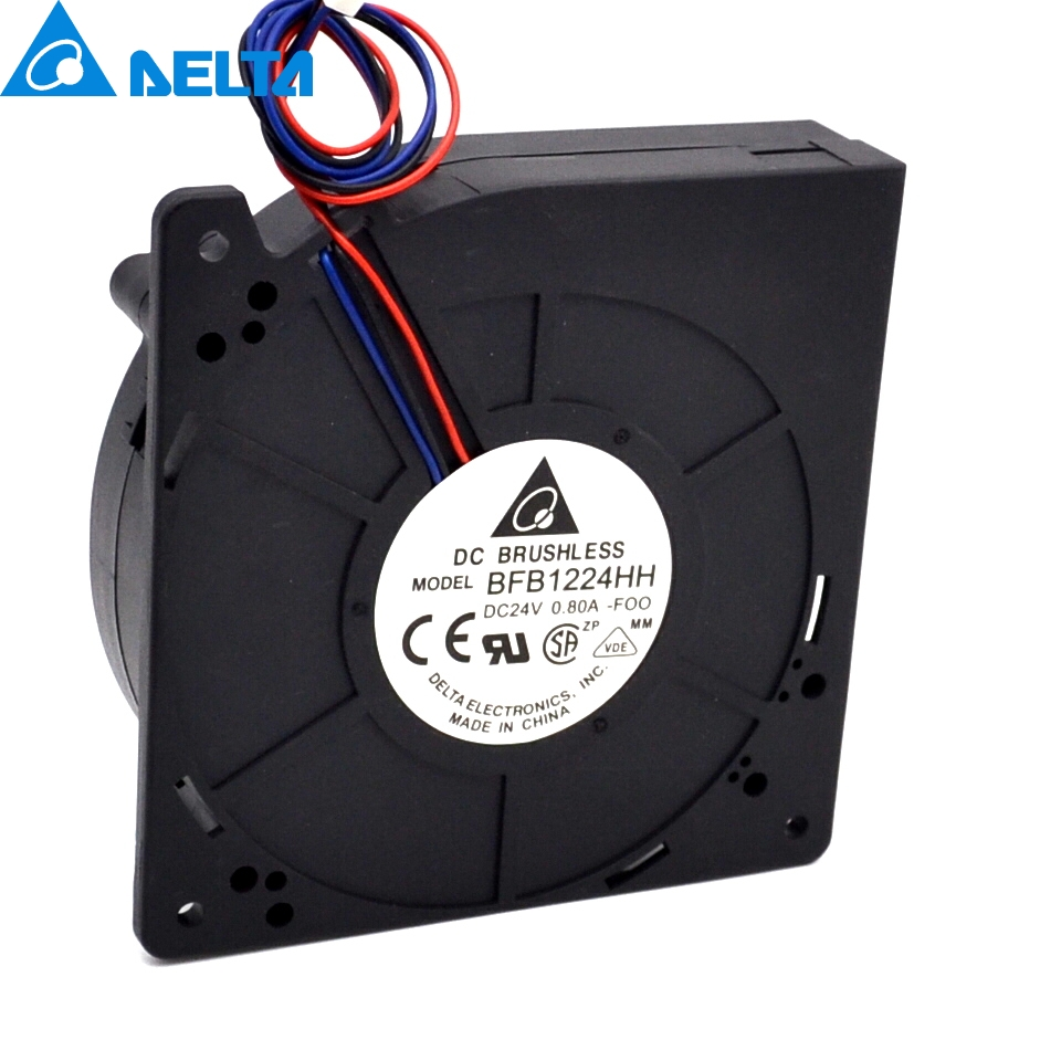 New BFB1224HH 12cm 24V 0.8A 12032 turbo blower fan for DELTA 120*120*32mm new and original qfr1224ehe 12038 12cm 24v 0 75a wind capacity inverter fan for delta 120 120 38mm