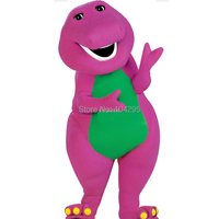 ohlees High quality Adult Barney Cartoon Mascot Costumes on Adult Size Free Shipping