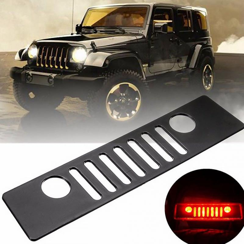 2007-2017 Jeep Wrangler Jk 3rd Brake Light Cover//decal Jeep Grill