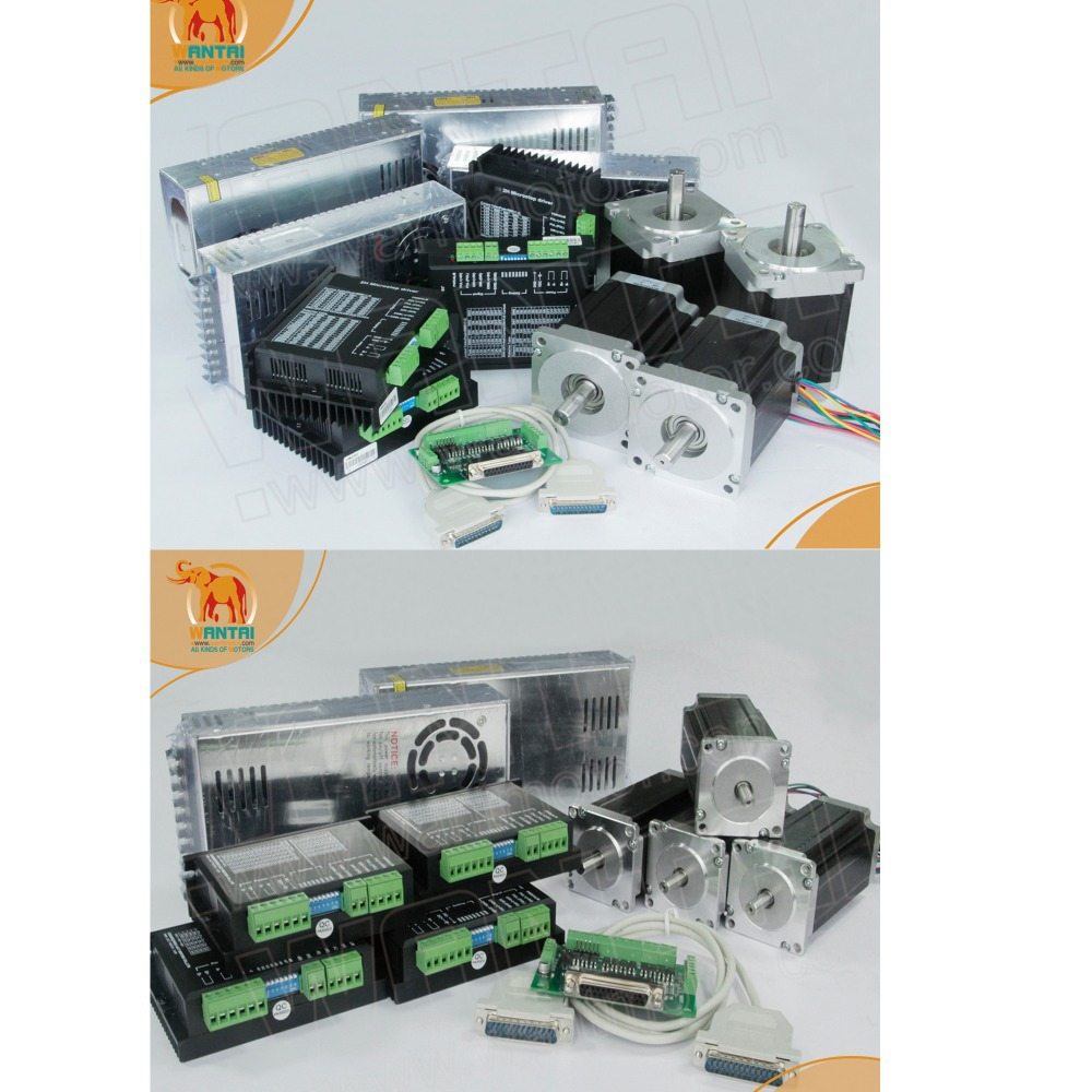цена на (German Ship) Nema 34 Wantai Stepper Motor 1090oz-in,5.6A,4Axis& 4 Axis Nema 23 Stepper Motor 425oz-in CNC & Driver 4.2A,50VDC