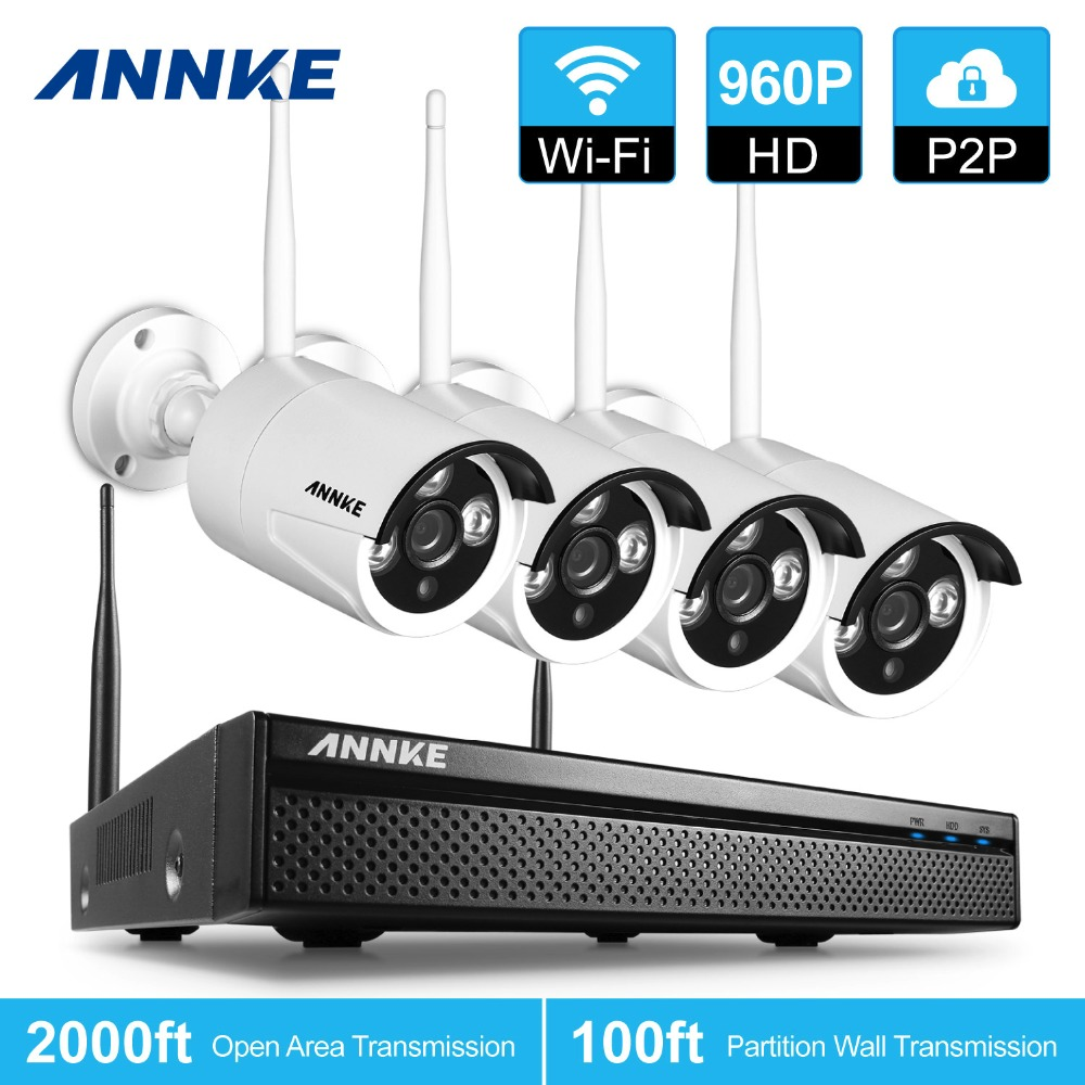 ANNKE 960P 4CH Network NVR 1 3MP Wireless Home CCTV Security IP Camera System