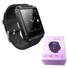 Mode U8 Smartwatch Bluetooth Handfree Für Iphone Smartphone Sport Tracker Musik-player Benachrichtigungen Ich Armbanduhr Geschenk Box
