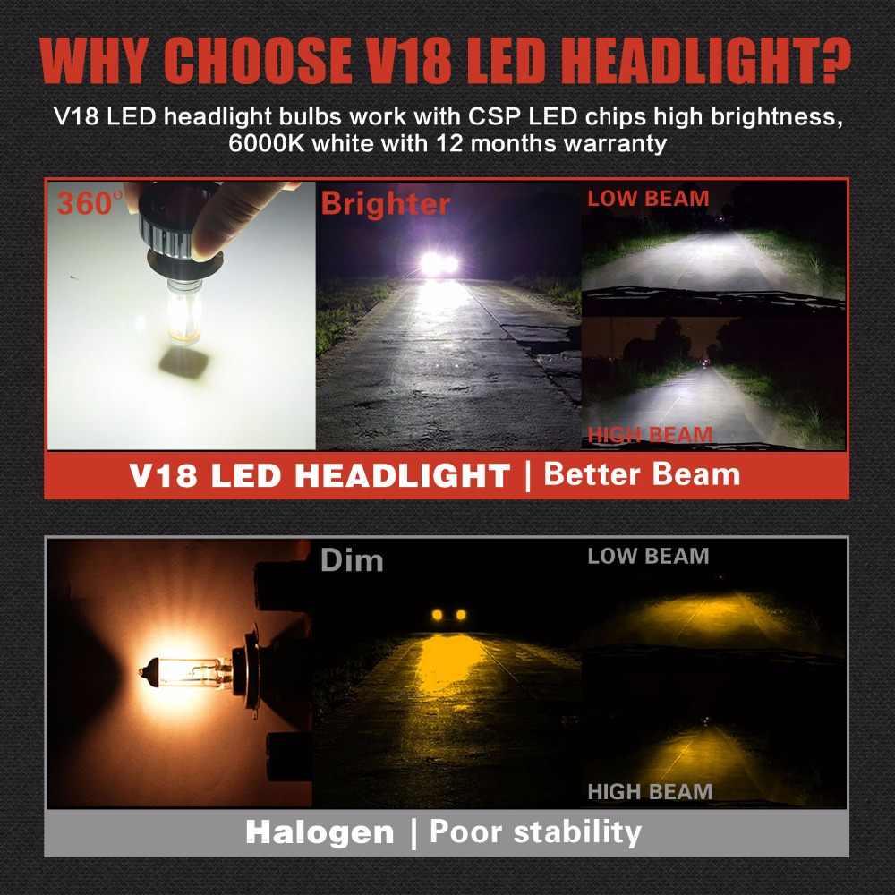 CSP1919 12000LM 100 Вт H7 H11 светодиодный головной светильник, конверсионные комплекты, 360 градусов, Высокий/Низкий H4, двойной луч, светильник для автомобиля, 3 цвета, сделай сам