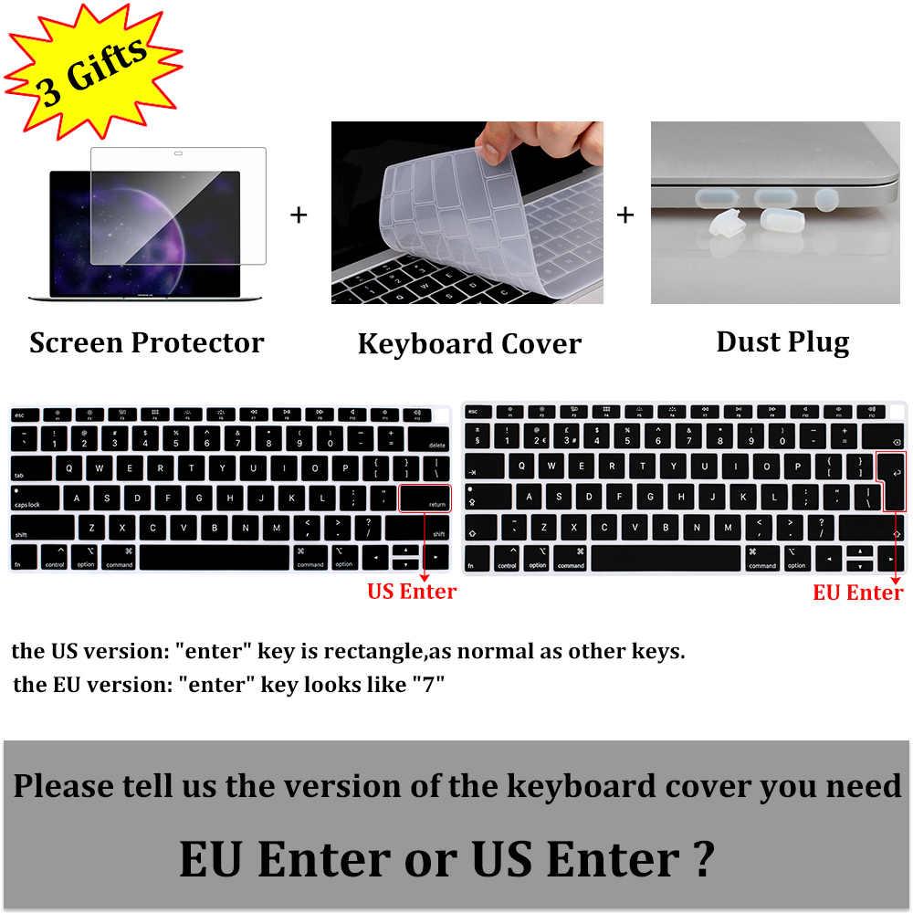Pour MacBook Air 13 pouces étui 2018 A1932 nouveau Pro 13 Touch bar 2019 été motif housse d'ordinateur portable clavier peau écran protecteur