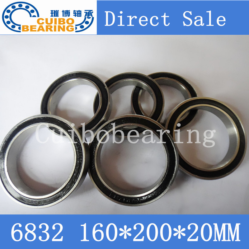 Free Shipping 1PC 6832 2RS Metric Thin Section Bearings 61832 RS 160x200x20