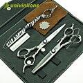 """Univinlions 6 """"прическа волосы ножницы для резки ножницы парикмахерские ножницы комплект истончение волос ножницы парикмахерская салон инструменты"""
