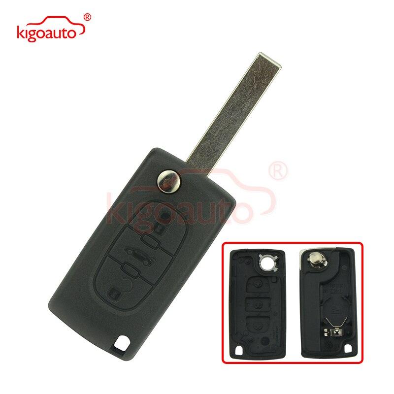 Télécommande Coque CE0536 HU83 3Boutons Coffre Clé PLIP pour Citroen C2 C3 C4 C5