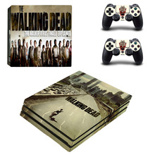 The Walking Dead Pattern PS4 pro Skin Sticker For Sony Playstation 4 Promotion Console & 2Pcs Controller Protection Film