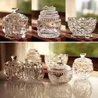 Exquisite mini crystal glass cans, candy cans, makeup accessories Home Furnishing Ornament