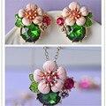 2017 frete grátis moda mulheres New Jóias esmalte jóias bonito simples e elegante flor brinco