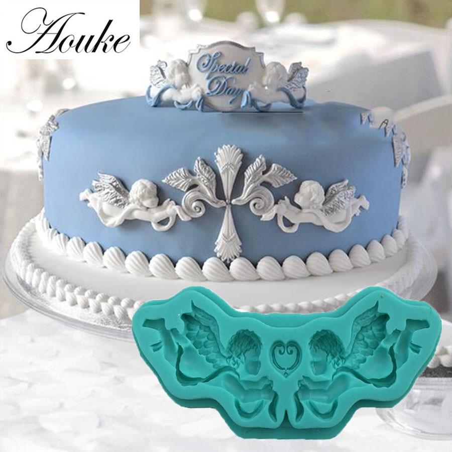 Aouke Angle Cake Side Shape Cake Mold Fondant Mold, For ...