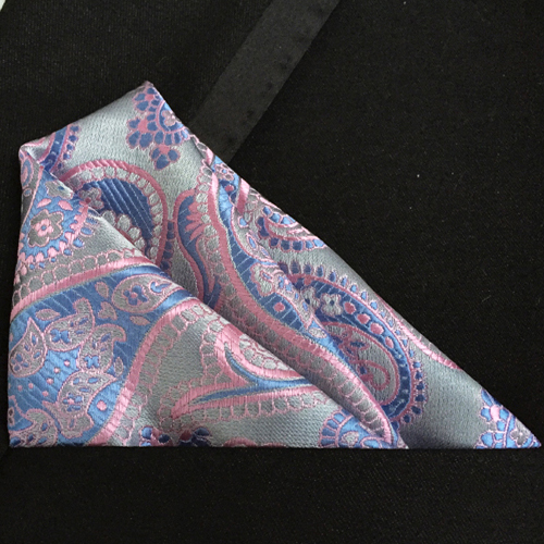 Lingyao Luxury Paisley Pocket Square TOP Quality Woven Handkerchief For Banquet
