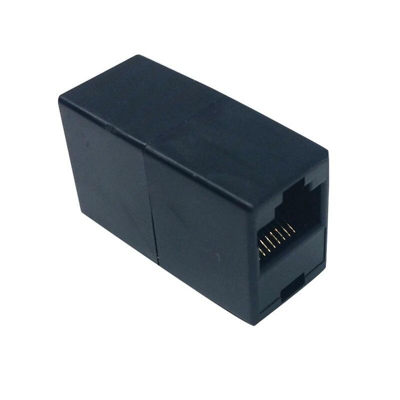 100pcs lot 5colors RJ45 CAT5 CAT5E Ethernet Connector female to female Lan Cable Join Extender