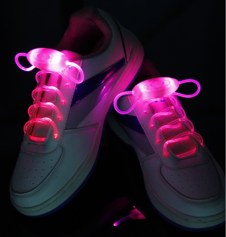 30pairs/lot <font><b>LED</b></font> lighting luminous <font><b>shoelace</b></font> spacial personality shoes laces glow in the dark christmas outdoor decoration