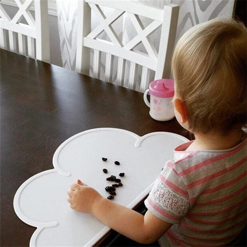 Non-slip heat insulation dining table mat cloud shaped baby placemat kitchen oven mat bowl pad mats tools silicone for dinner