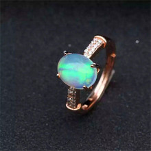 Natural Fire Opal Ring Genuine Solid 925 Sterling Silver Women Gemstone Rings Fine jewelry