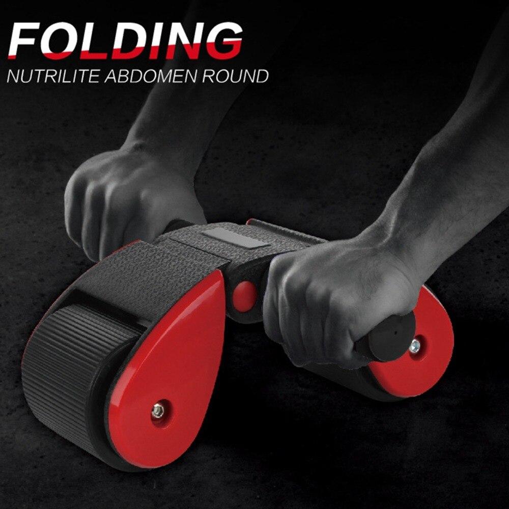 2018 Portable AB Abdominale Roues Silencieux Pliable 2 Roues Abs roues Pour La Maison Gym Core Taille Bras Force Abs Entraînement trainin