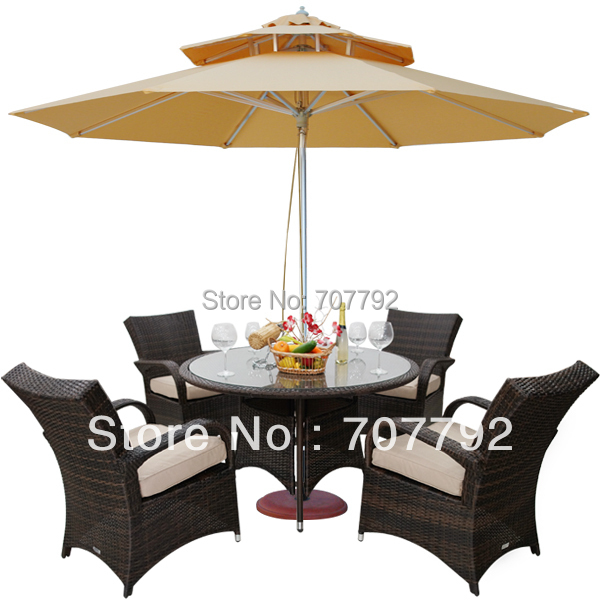 outdoor wicker patio furniture new resin 5 pc dining table set with 4 chairs china