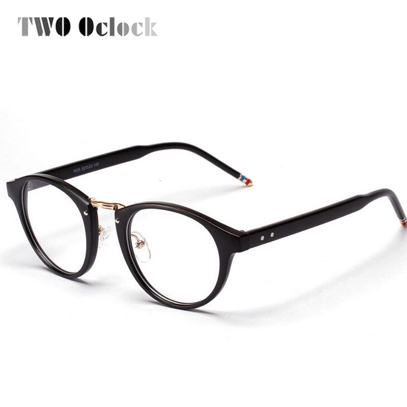 ᗚTWO Oclock Brand Men Eyeglasses Frames With Clear Lens, Fashion ...