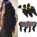 Cheap Peruvian Virgin Hair Loose Wave With Closure Hot Beauty Hair 3 Bundles With Closure Top (13x4) Lace Closure With Bundles