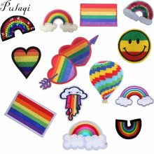 Pulaqi Lgbt Vlag Regenboog Ijzer Op Patches Voor Kleding Patch Gay Pride Patch Sticker Op Zakken Diy Geborduurde Applicaties E(China)